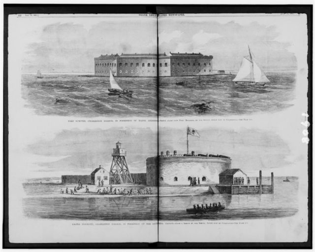 [Fort Sumter and Castle Pinckney, Charleston Harbor, South Carolina]