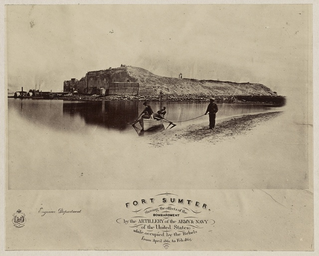 Fort Sumter, showing the effects of the bombardment by the artillery of the Army & Navy of the United States; while occupied by the rebels from April, 1861 to Feb., 1865
