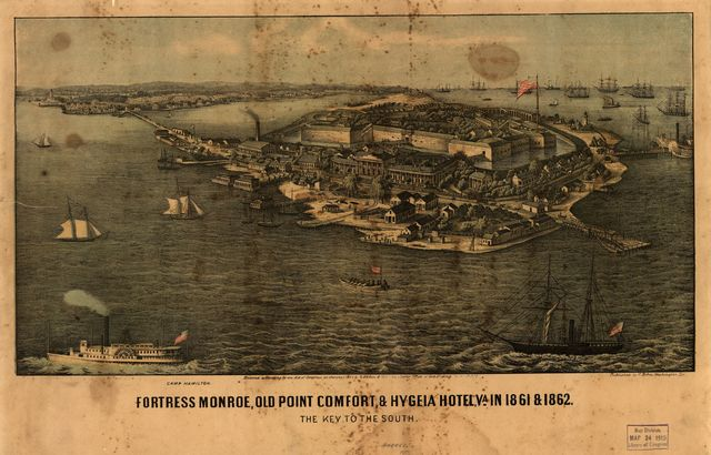 Fortress Monroe, Old Point Comfort, & Hygeia Hotel, Va. in 1861 & 1862. The key to the South