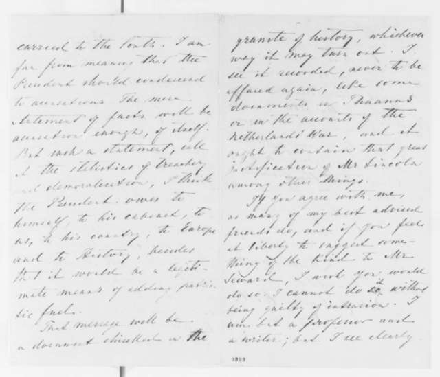 Francis Lieber to Charles King, Wednesday, May 15, 1861  (Political affairs)