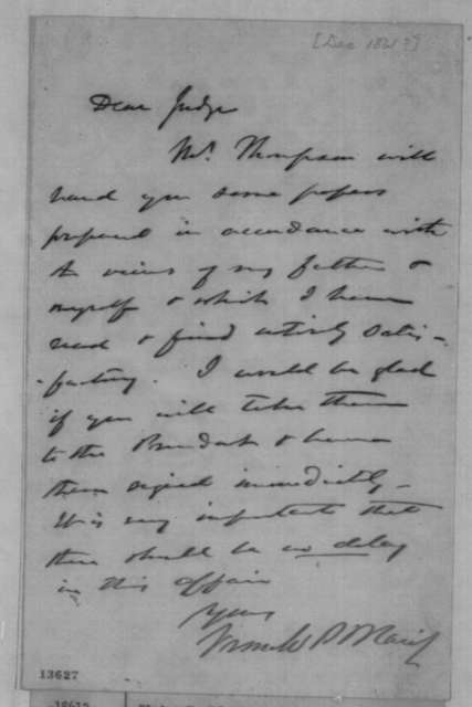 Francis P. Blair Jr. to Montgomery Blair, December 1861  (Chiriqui Improvement Co.)