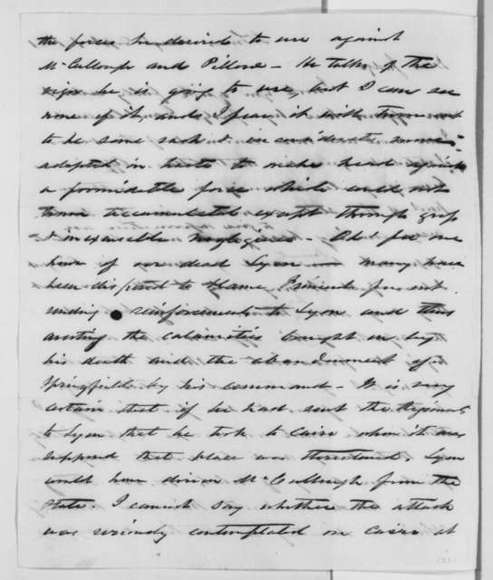Francis P. Blair Jr. to Montgomery Blair, Sunday, September 01, 1861  (Fremont and situation in Missouri)