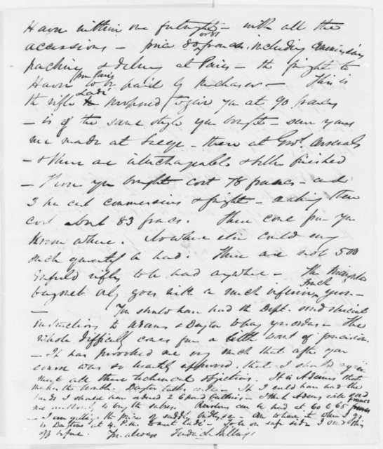 Frederick Billings to John C. Fremont, Thursday, August 01, 1861  (Purchase of arms in Europe)