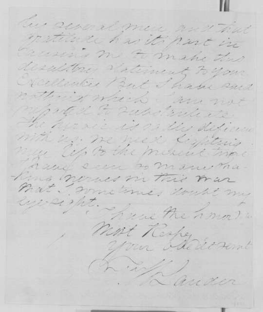 Frederick W. Lander to Abraham Lincoln, Tuesday, December 31, 1861  (Case of Capt. Berial)