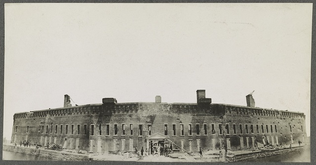 Ft. Sumter, the day after its first bombardment