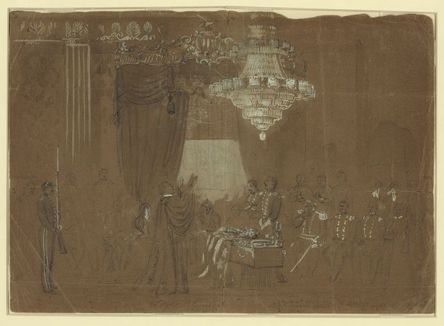 Funeral service over Col. Ellsworth at the White House East Room