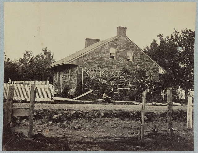 General Lee's Headquarters. Mrs. Thompson's house, on Chambersburg Pike