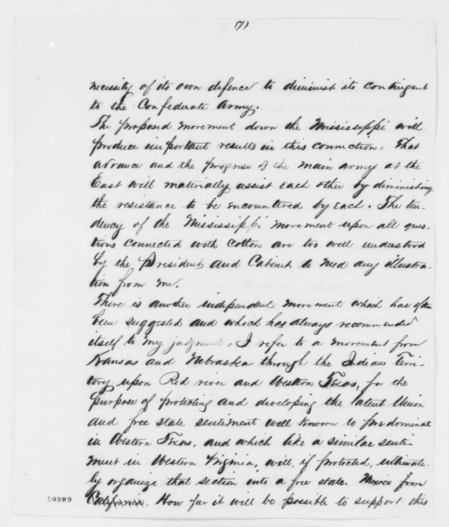 George B. McClellan to Abraham Lincoln, Friday, August 02, 1861  (Military affairs; endorsed by Abraham Lincoln on cover)