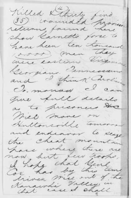 George B. McClellan to Edward Dickinson Townsend, Saturday, July 13, 1861  (Telegram reporting military success)