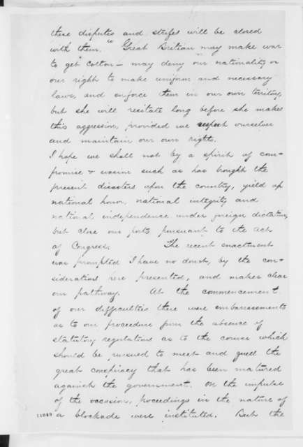 Gideon Welles to Abraham Lincoln, Monday, August 05, 1861  (Blockade of Southern ports)