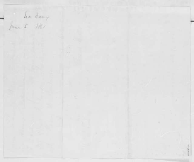 Gideon Welles to Abraham Lincoln, Wednesday, June 05, 1861  (Marine Corps commissions)