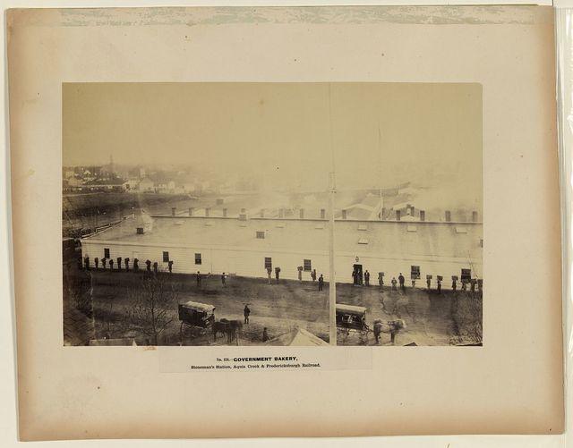 Government bakery, Stoneman's Station, Aquia Creek & Fredericksburgh Railroad