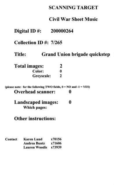 Grand Union brigade quickstep