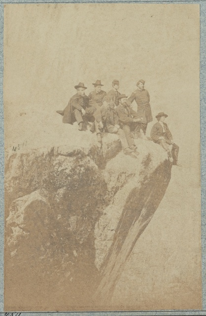 Group of officers on Lookout Mountain