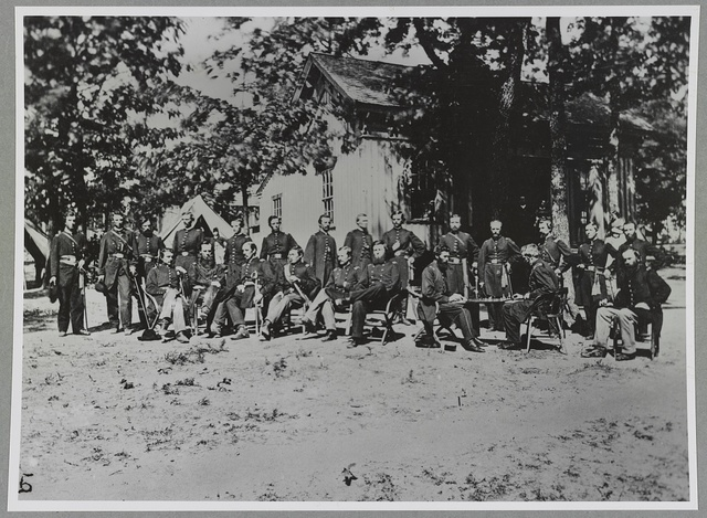 Group of soldiers [i.e. officers]
