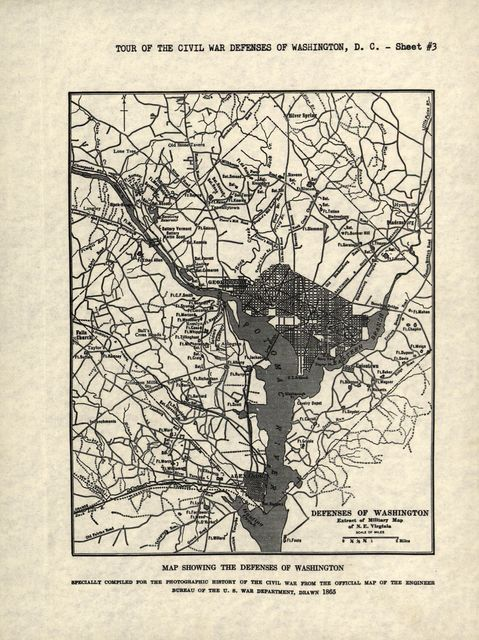 Guide leaflets for the tour of historic Civil War defenses, Washington D.C.