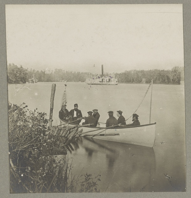 "Gunboat ""Perry"" on the James River"