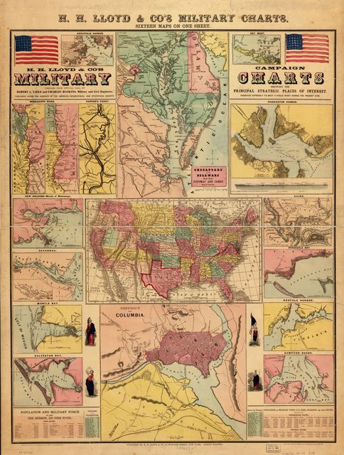 H. H. Lloyd & Co's. campaign military charts showing the principal strategic places of interest