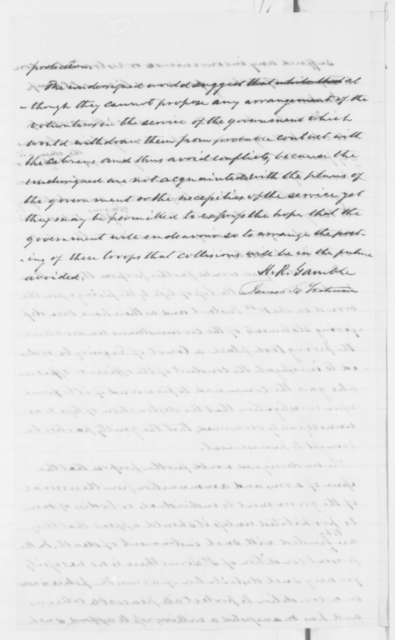 Hamilton R. Gamble and James E. Yeatman to Abraham Lincoln, Wednesday, May 15, 1861  (Conditions in St. Louis)