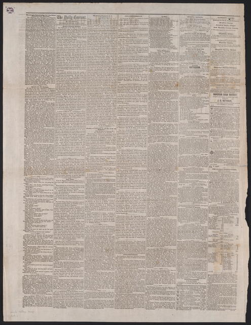 Hartford Daily Courant, [newspaper]. June 4, 1861.