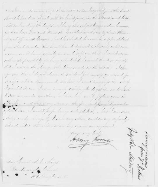 Harvey Browne to Montgomery C. Meigs, Friday, July 26, 1861  (Military affairs)