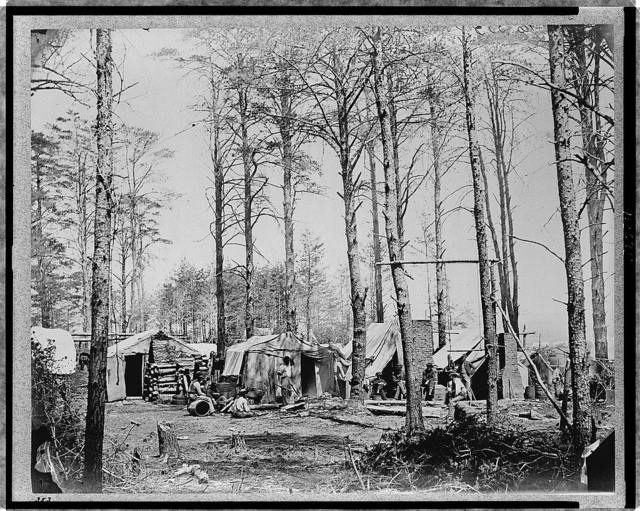 Headquarters Army of Potomac - Brandy Station, April 1864--Camp of Telegraph Corps