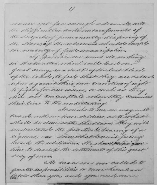 Henry D. Bacon to Abraham Lincoln, Tuesday, December 10, 1861  (Political affairs)