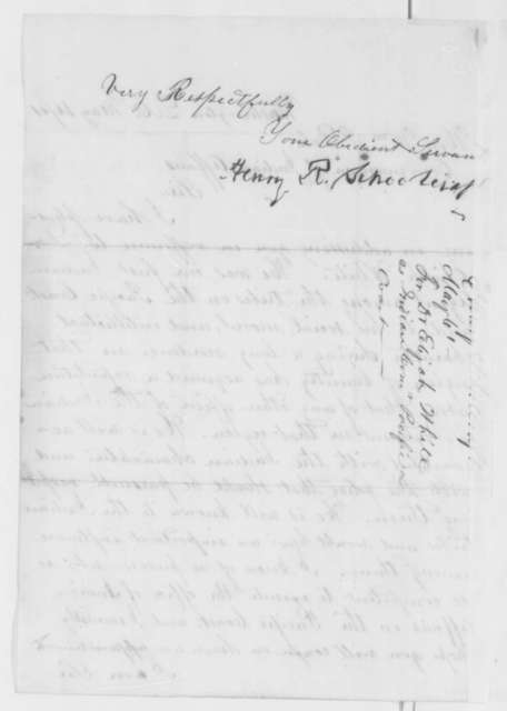 Henry R. Schoolcraft to William P. Dole, Thursday, May 16, 1861  (Recommendation)