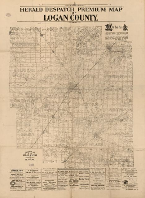 Herald Despatch Premium Map of Logan County.