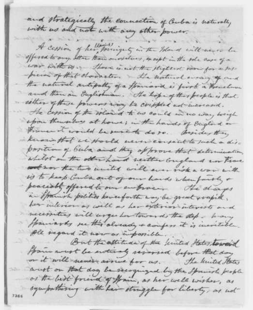 Horatio G. Perry to Abraham Lincoln, Saturday, February 16, 1861  (Relations with Spain and Cuba)