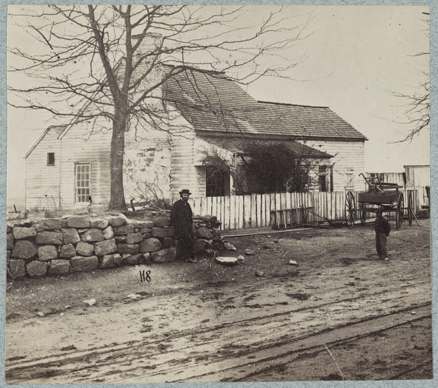 House at foot of Marye's Heights where Gen. Cobb, C.S.A. was killed, December 13, 1862