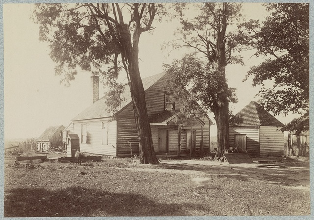 "House in which ""Stonewall Jackson"" died, near Guinea's [i.e. Guinea] Station, Va."