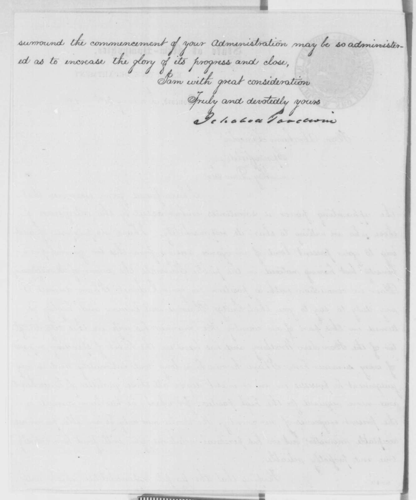 Ichabod Goodwin and W. H. Y. Hackett to Abraham Lincoln, Thursday, January 31, 1861  (Recommend Montgomery Blair for cabinet)