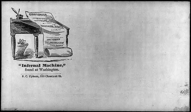 "[Illustrated Civil War ""Union Envelopes""]: Infernal machine at Washington"