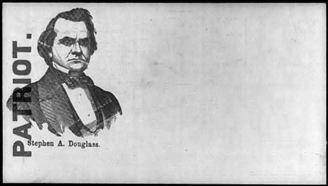 "[Illustrated Civil War ""Union Envelopes""]: [Portr. of Stephen Douglas labelled ""Patriot""]"
