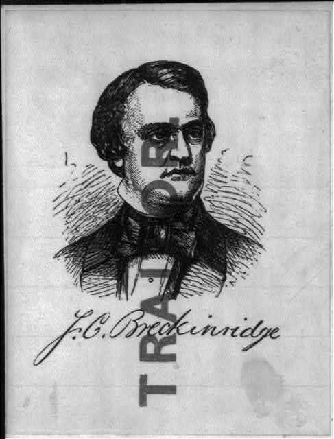 "[Illustrated Civil War ""Union Envelopes"": portrait of John Cabell Breckinridge labelled ""Traitor]"