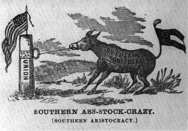 """[Illustrated Civil War """"Union Envelopes""""]: Southern Ass-Stock-Crazy"""