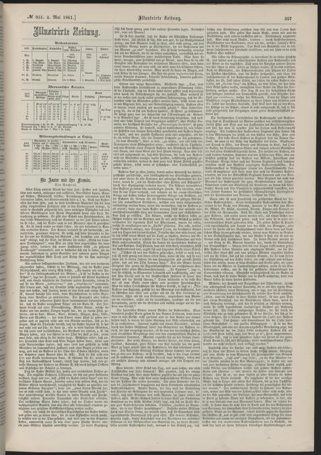 Illustrirte Zeitung, [newspaper]. May 4, 1861.