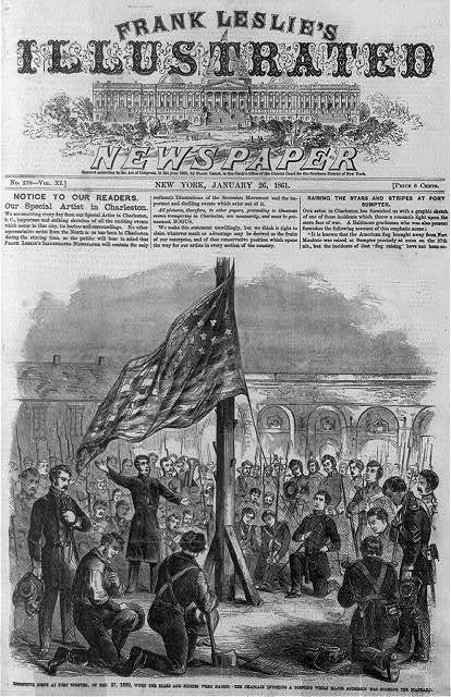 Impressive scene at Fort Sumter - Dec. 27, 1860