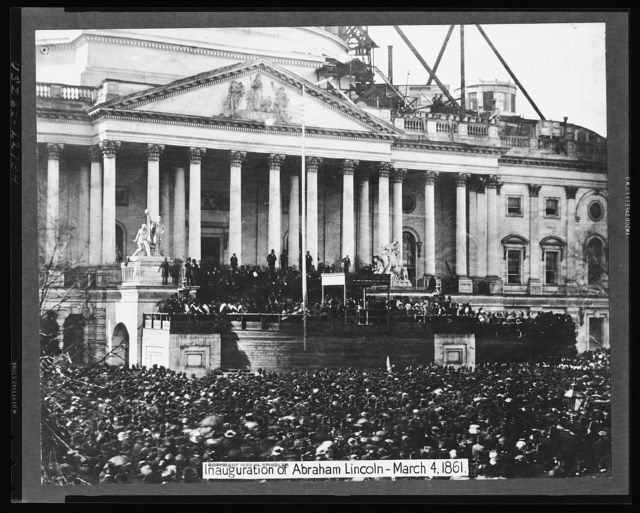 Inauguration of Abraham Lincoln - March 4, 1861
