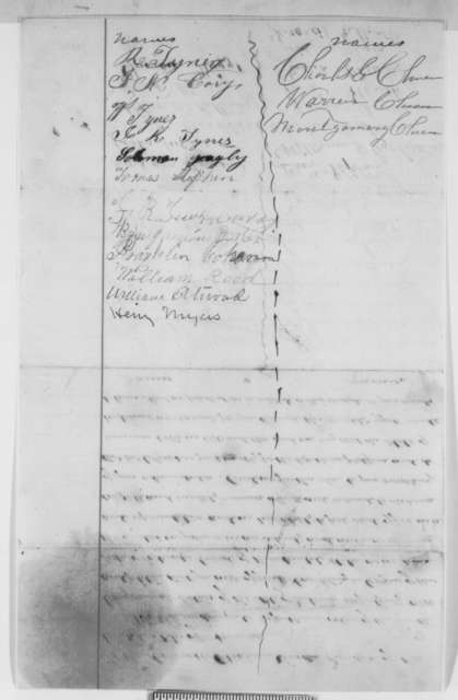 Indiana 9th Congressional District Republicans to Abraham Lincoln, February 1861  (Petition  recommending Colfax for cabinet)