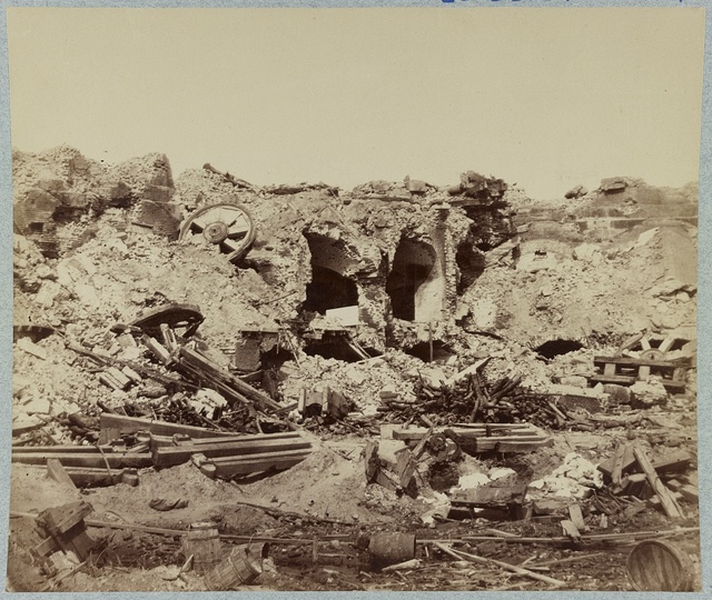 Interior view of Fort Sumter, S.C. showing effects of bombardment