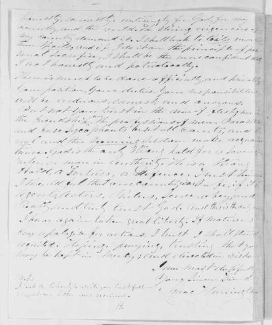 Isaac Harrington to Abraham Lincoln, Monday, January 21, 1861  (Support)