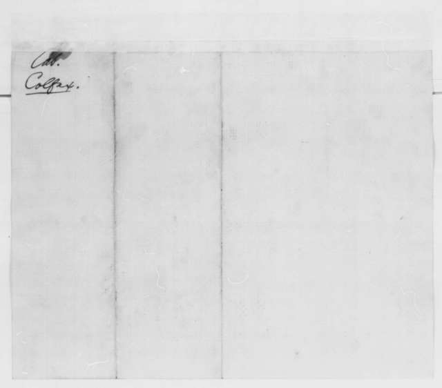 J. F. St. James, et al. to Abraham Lincoln, Monday, February 25, 1861  (Recommend Colfax for cabinet)
