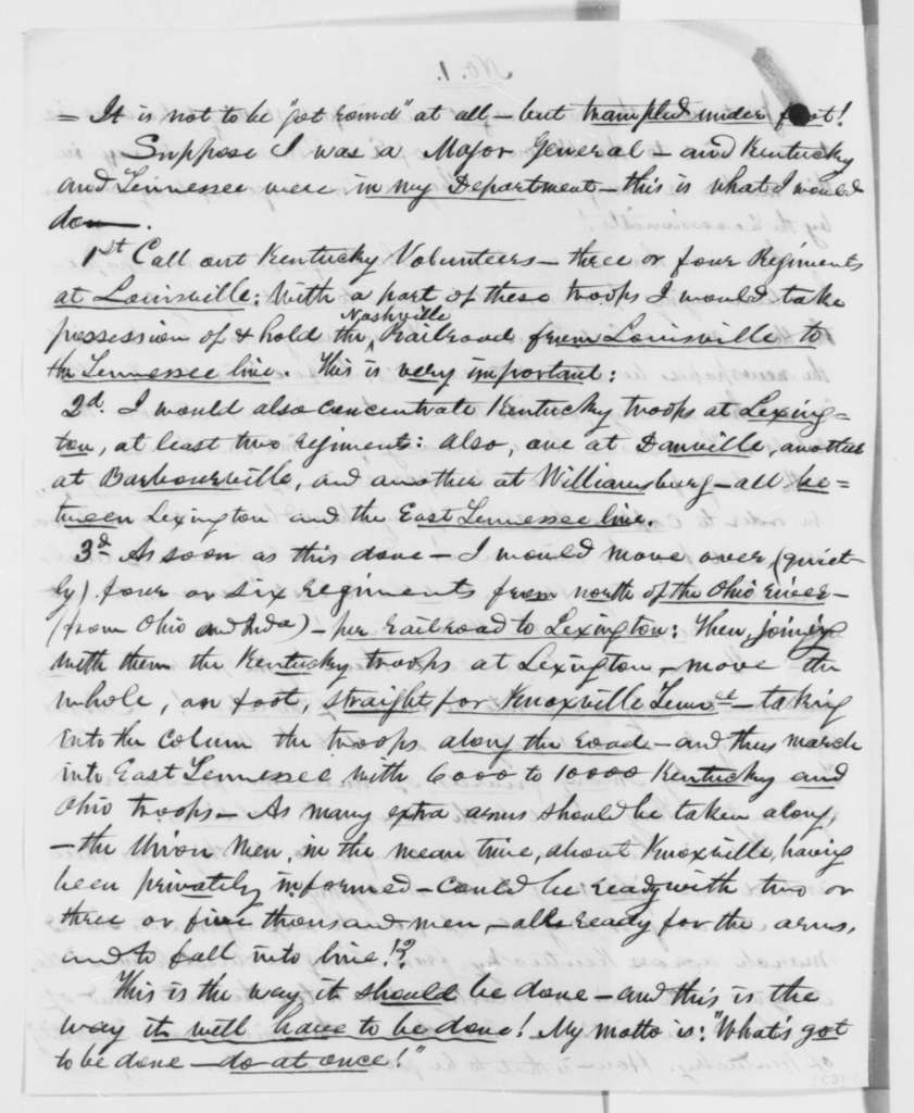 J. H. Jordan to Abraham Lincoln, Thursday, July 04, 1861  (Political advice)