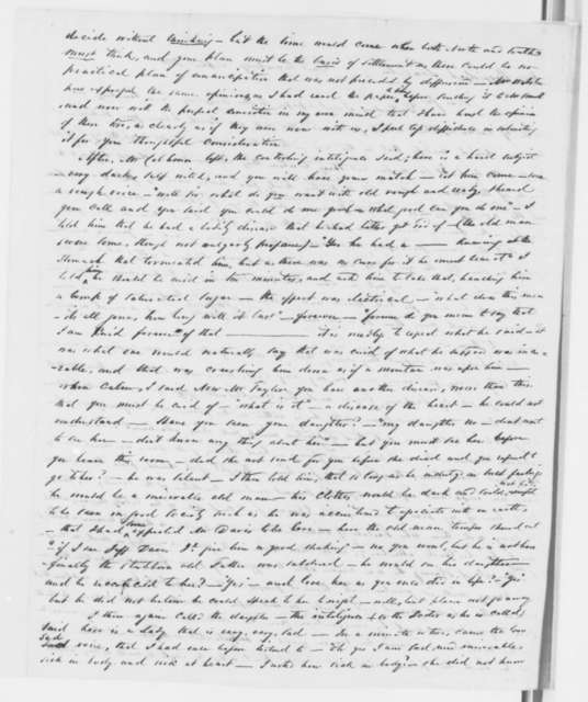J. S. Hastings to Abraham Lincoln, Saturday, September 07, 1861  (Spiritual communications with John C. Calhoun, Daniel Webster, and others)