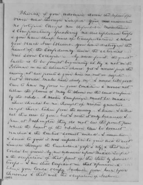 James Guthrie to Joshua F. Speed, Friday, November 22, 1861  (Military affairs in Kentucky; endorsed by Speed to Lincoln, Nov. 26, 1861; and endorsed by Lincoln, Nov. 26, 1861)