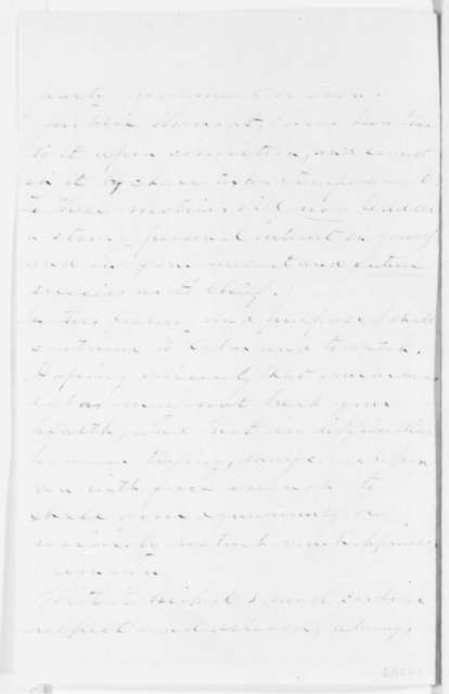 James H. Van Alen to Abraham Lincoln, [March 1861]  (Support)