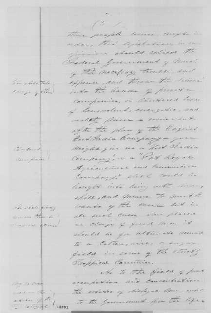 James Mitchell to Abraham Lincoln, Friday, December 13, 1861  (Colonization of freedmen)