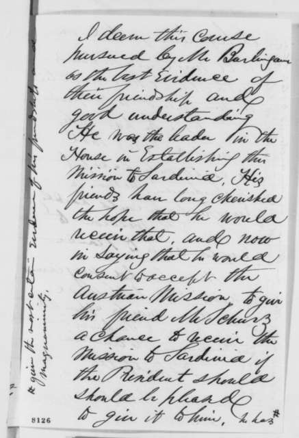 James R. Doolittle to Abraham Lincoln, Friday, March 15, 1861  (Diplomatic appointment to Sardinia)